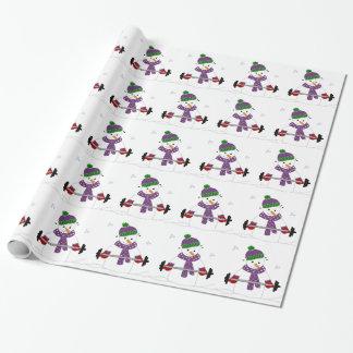 Papier Cadeau Poids de levage de bonhomme de neige