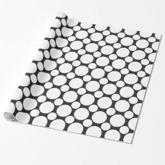 Papier Cadeau Point 2 noir et blanc