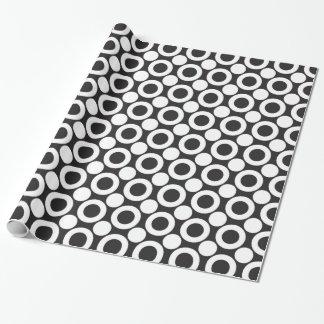 Papier Cadeau Point 3 noir et blanc