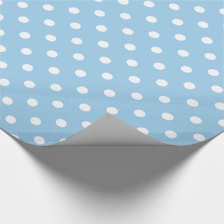 Papier Cadeau Pois blanc sur le bleu de cottage