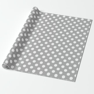 Papier Cadeau Pois blanc sur le gris
