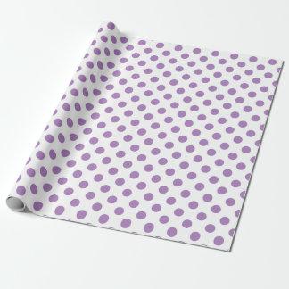 Papier Cadeau Pois de lavande sur le blanc