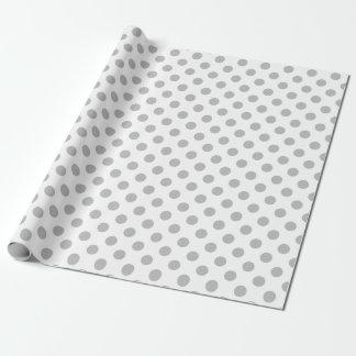 Papier Cadeau Pois gris sur le blanc