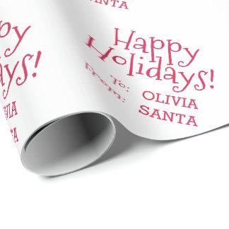 Papier Cadeau Police rouge de vacances d'amusement à de Noël