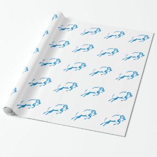 Papier Cadeau Polygone de tête de chat de Lynx bas