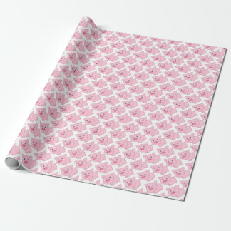 Papier Cadeau Porcs roses
