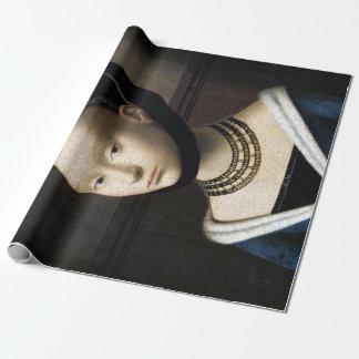 Papier Cadeau Portrait de Petrus Christus d'une jeune femme