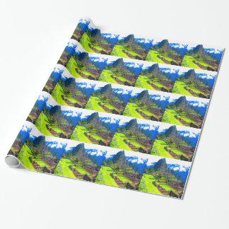Papier Cadeau Pour toujours mémoire de picchu Pérou de machu de