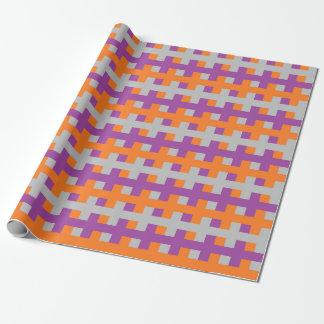 Papier Cadeau Pourpre abstrait, orange et argent