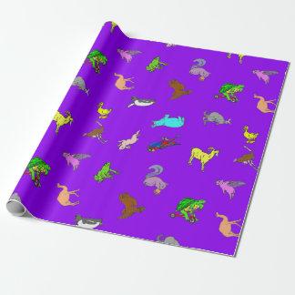 Papier Cadeau Pourpre animal d'amusement