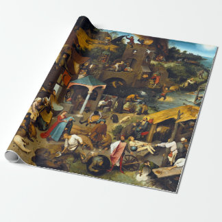 Papier Cadeau Proverbes de Pieter Brueghel Netherlandish