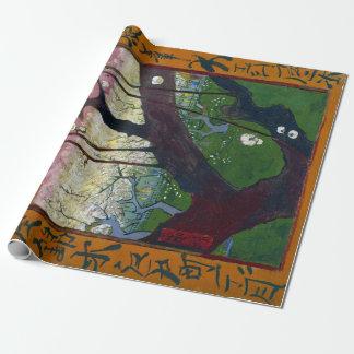Papier Cadeau Prunier fleurissant de Vincent van Gogh