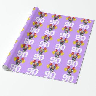 Papier Cadeau quatre-vingt-dixième Papier pourpre d'emballage