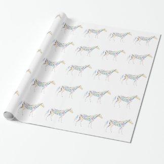 Papier Cadeau Races de cheval