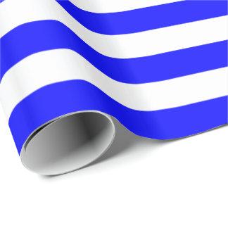 Papier Cadeau Rayure bleue/blanche
