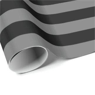 Papier Cadeau Rayure grise/noire