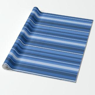 Papier Cadeau Rayures bleues