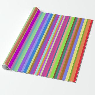 Papier Cadeau Rayures de diverses couleurs