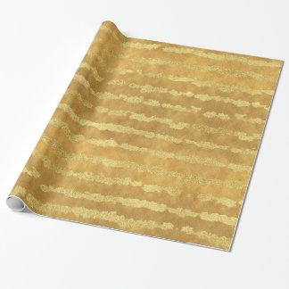Papier Cadeau Rayures de tape-à-l'oeil d'or