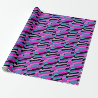 Papier Cadeau Rayures diagonales dans des couleurs de harlequin