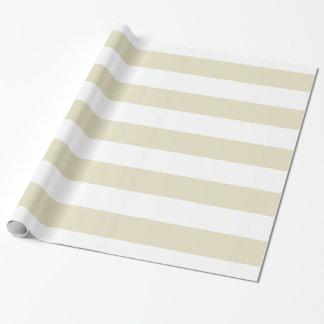 Papier Cadeau Rayures énormes blanches beiges de sable