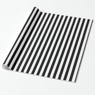 Papier Cadeau Rayures horizontales noires et blanches