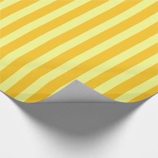 Papier Cadeau Rayures jaunes et oranges