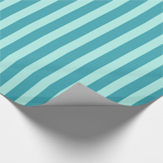 Papier Cadeau Rayures turquoises et bleues