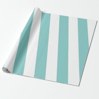 Papier Cadeau Rayures vertes et blanches