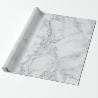 Papier Cadeau Regard de marbre gris-clair de texture