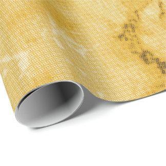 Papier Cadeau Regard de marbre jaune assez d'or de texture