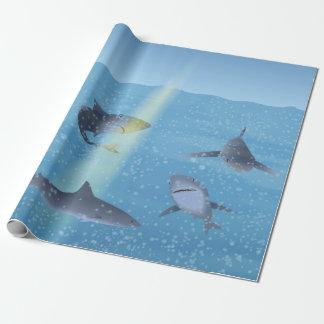 Papier Cadeau Requins