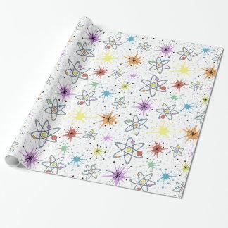 Papier Cadeau Rétro atomique
