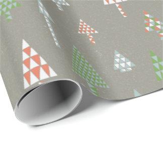 Papier Cadeau Rétro métal d'enveloppe de cadeau d'arbres de Noël