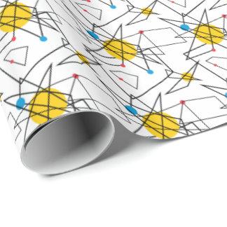 Papier Cadeau Rétro motif géométrique angulaire