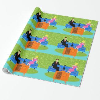 Papier Cadeau Rétros ajouter au papier d'emballage de chat