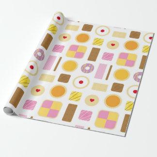 Papier Cadeau Rétros biscuits classiques et papier d'emballage