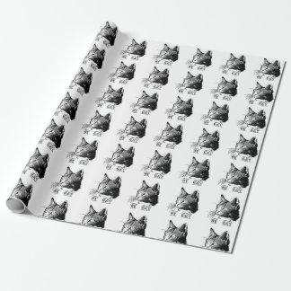 Papier Cadeau Rôle de cadeau tête de chat