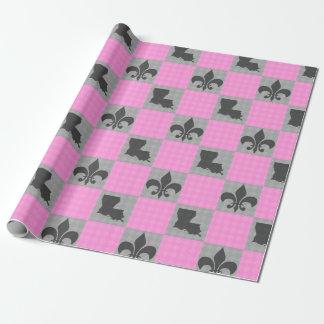 Papier Cadeau Rose et papier d'enveloppe de Grey Fleur De Lis