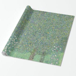 Papier Cadeau Rosiers de Gustav Klimt sous les arbres GalleryHD
