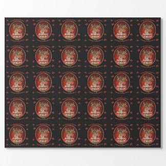 Papier Cadeau Rouge brillant de papier d'emballage de mari