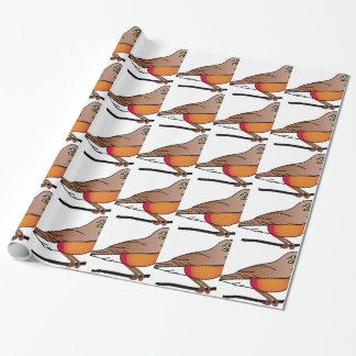 Papier Cadeau rouge-merle