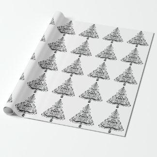 Papier Cadeau Rouleau victorien décoratif vintage d'arbre de