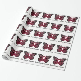 Papier Cadeau Ruban de conscience de papillon d'anévrisme