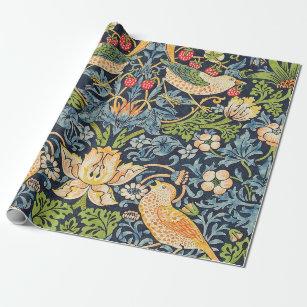 Papier Cadeau Schéma floral William Morris Strawberry Thief