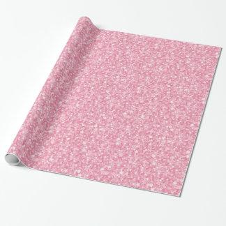 Papier Cadeau Scintillement et étincelles de rose en pastel