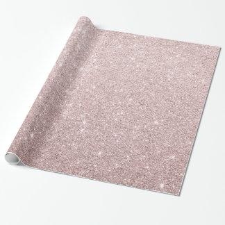 Papier Cadeau scintillement rose élégant d'or