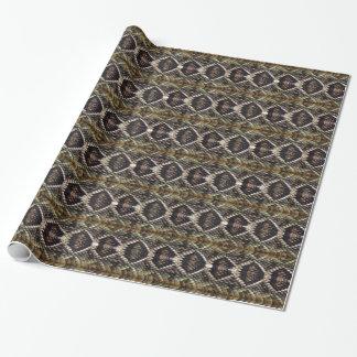 Papier Cadeau Serpent à sonnettes de dos en forme de losange