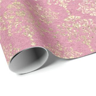 Papier Cadeau S'est levée princesse métallique plus rusée Pink