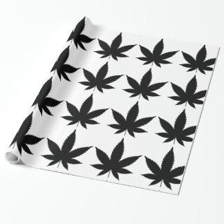 Papier Cadeau Silhouette de feuille de mauvaise herbe